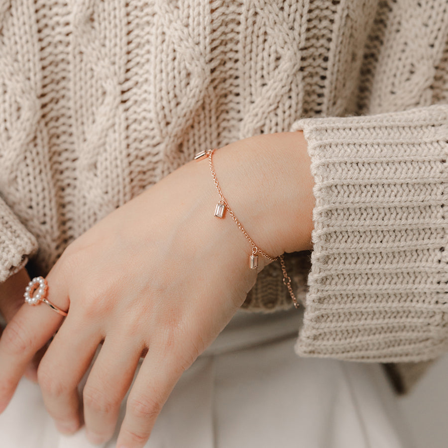 Rose Gold Bailey Cubic Bracelet