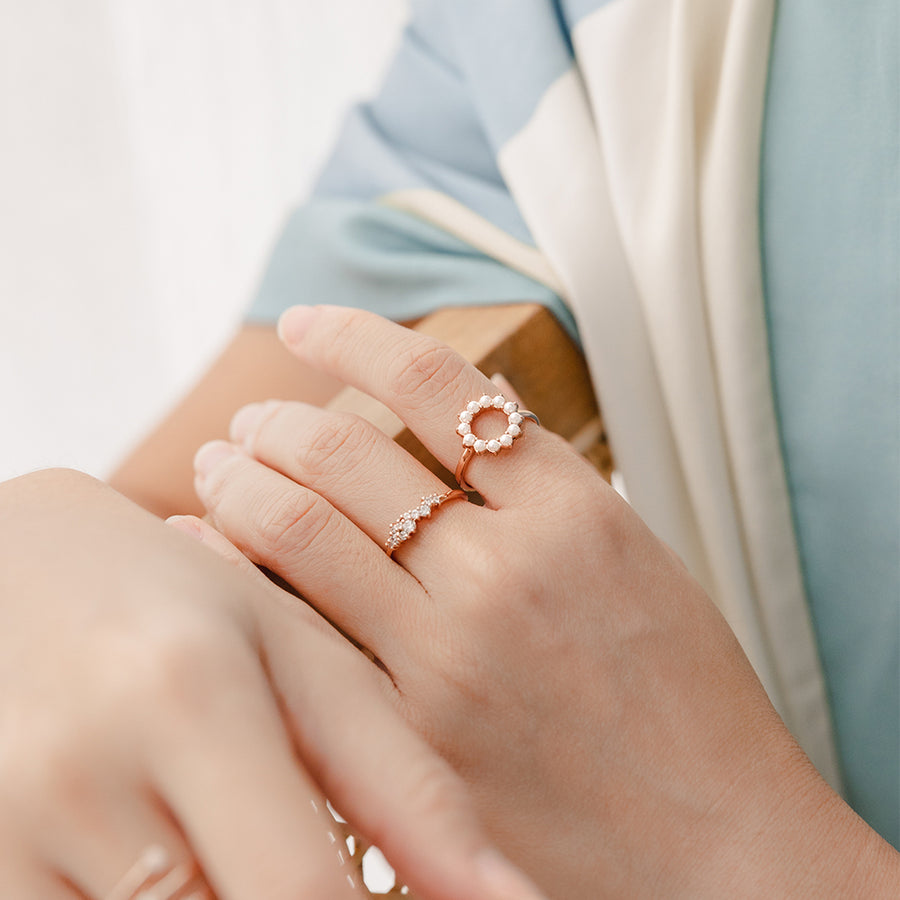 Rose Gold Beth Pearl Ring