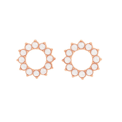 Rose Gold Beth Pearl Studs