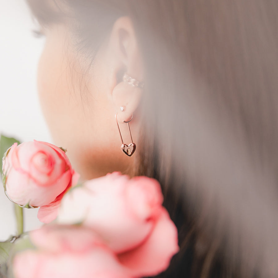 Rose Gold Cupid Earrings