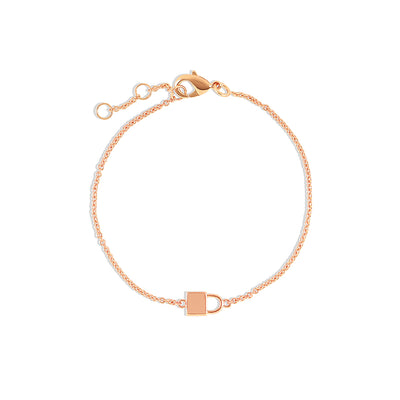 Rose Gold Vermeil Lock Bracelet