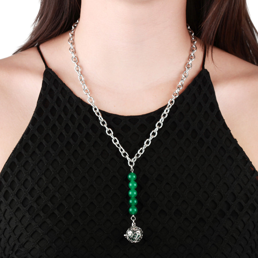 Yu Ahn Jade Drop Pendant Necklace