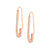 Rose Gold Safety Pin Cubic Earrings