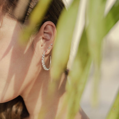 Silver Aria Cubic Earrings