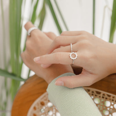 925 Silver Beth Pearl Ring