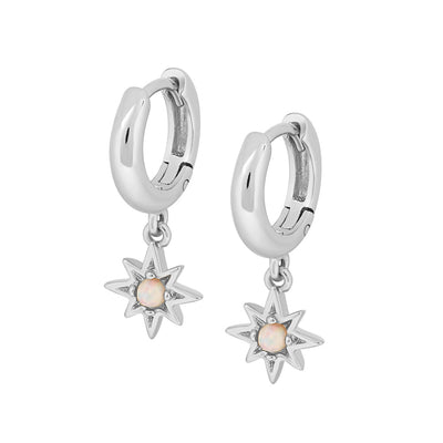 925 Silver Celeste Opal Earrings