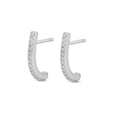 925 Silver Cubic Half Suspender Earrings
