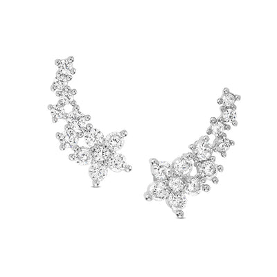 Silver Cecile Cubic Earrings