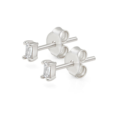 925 Silver Ortho Cubic Studs
