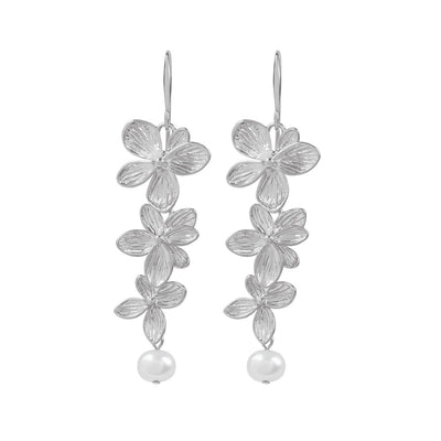 Silver Cassidy Flower Earrings