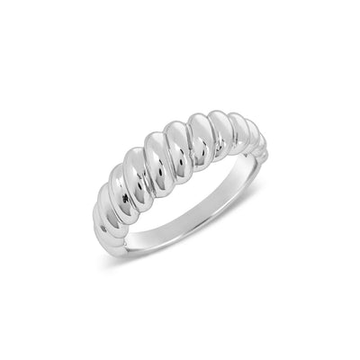 925 Silver Twisted Rope Ring
