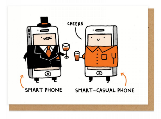 Smart Phone Greeting Card