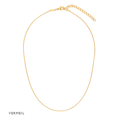 Gold Vermeil Snake Chain Necklace