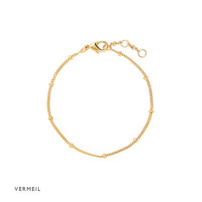 Gold Vermeil Spacer Bracelet