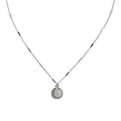 Stainless Steel Amie Moonstone Necklace