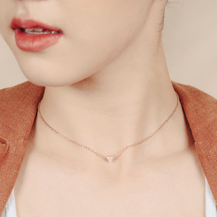 Rose Gold Valerie Opaline Necklace