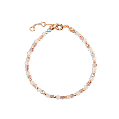 Rose Gold Violet Moonstone Bracelet