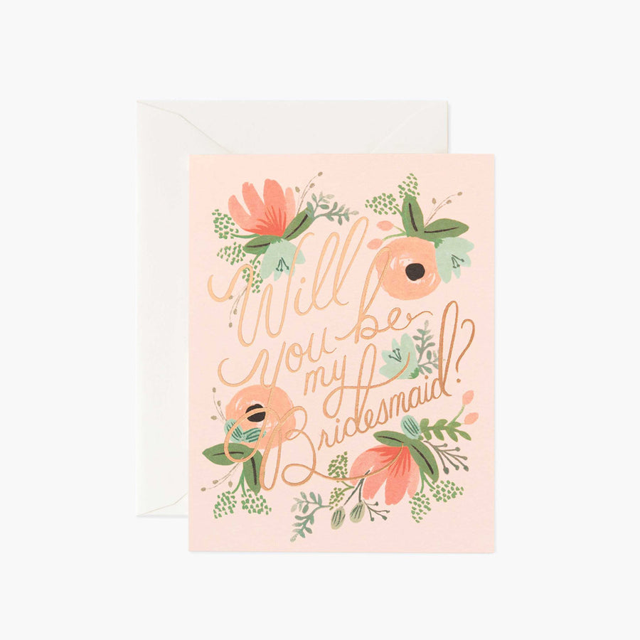 Blushing Bridesmaids Card
