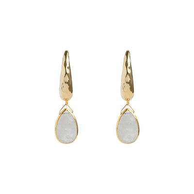 Gold Pauline Moonstone Earrings
