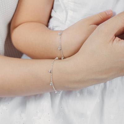 925 Silver Mommy and Me Leanne Bracelet Set