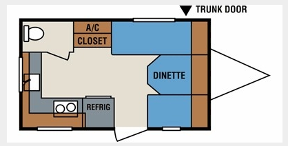 Floor Plan | 2010 KZ Sportsmen 14RK