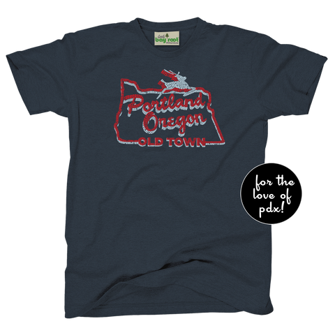 Portland Oregon White Stag Tee