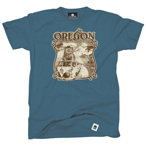 Pacific Wonderland Bear Oregon | Adult T-Shirt