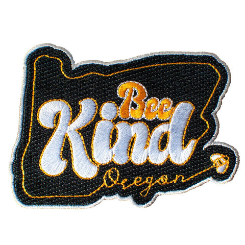 Oregon Bee Kind | Embroidered Patch