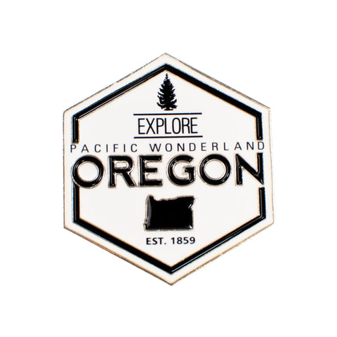 Explore Pacific Wonderland Oregon | Enamel Lapel Pin