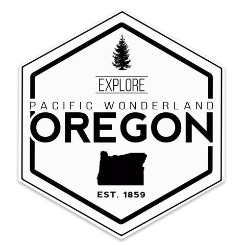 Explore Pacific Wonderland Oregon | Sticker