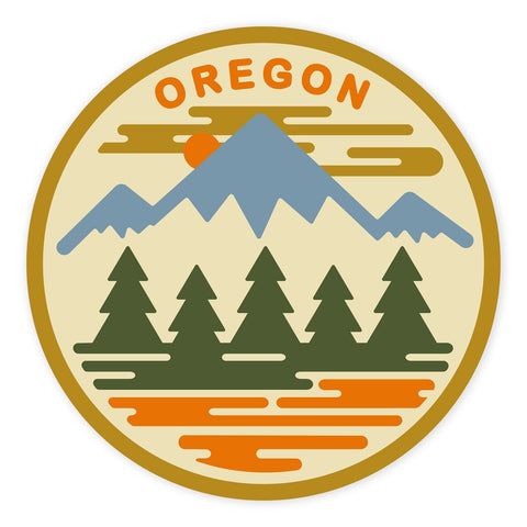 Oregon Fifty Ranges | Sticker