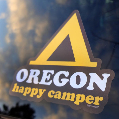 Happy Camper Oregon | Sticker