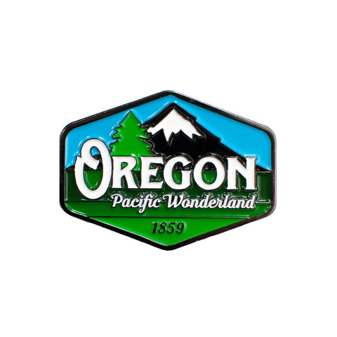 Oregon Pacific Wonderland Vintage | Enamel Lapel Pin