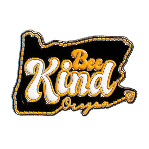 Oregon Bee Kind | Enamel Lapel Pin