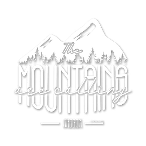 Oregon The Mountains are Calling | Sticker/Decal