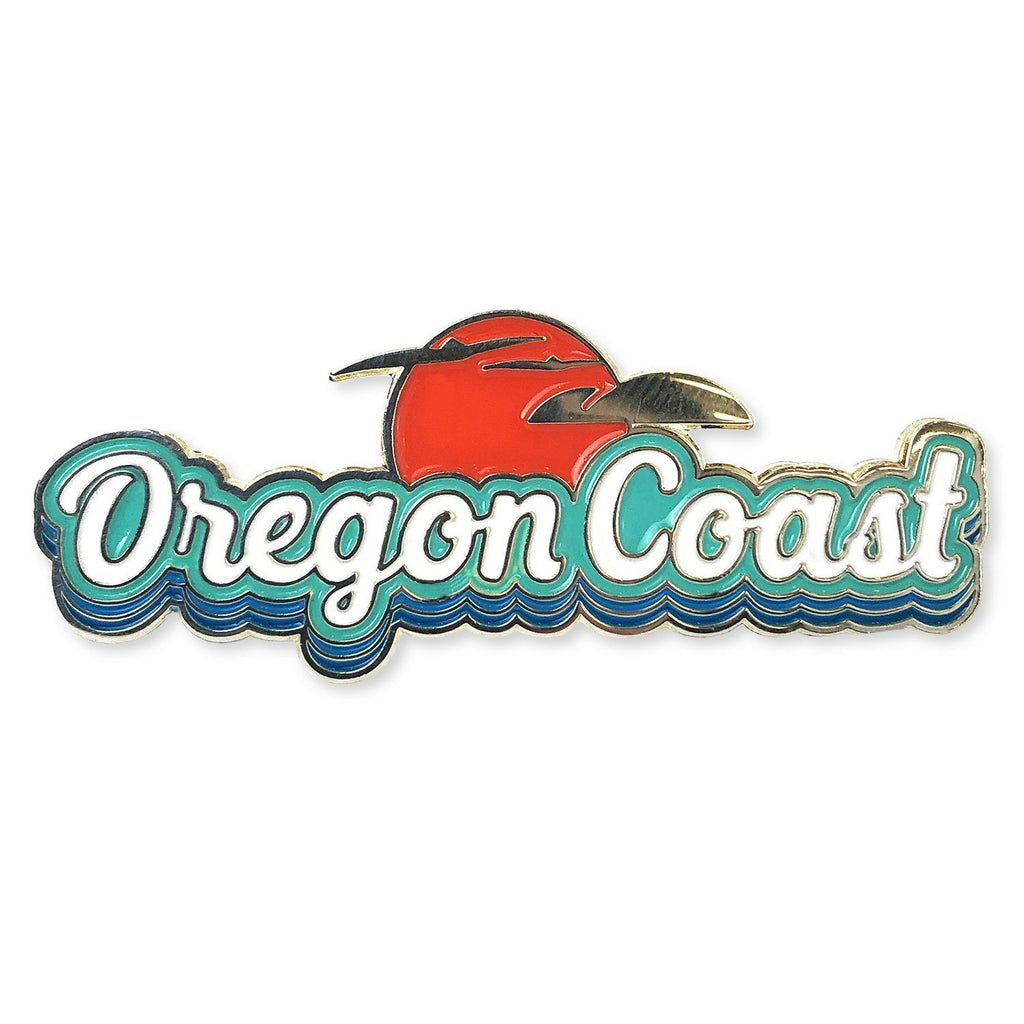 Oregon Coast Retro | Enamel Lapel Pin
