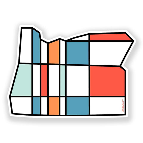 Oregon Mondrian | Sticker