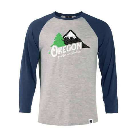 Oregon Pacific Wonderland Vintage | Unisex ¾-Sleeved Raglan Tee