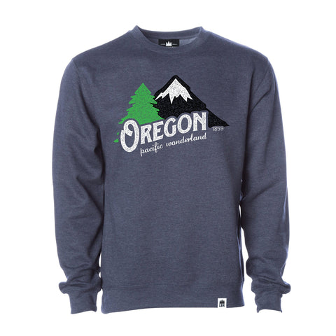 Oregon Pacific Wonderland Vintage | Unisex Crewneck Sweatshirt