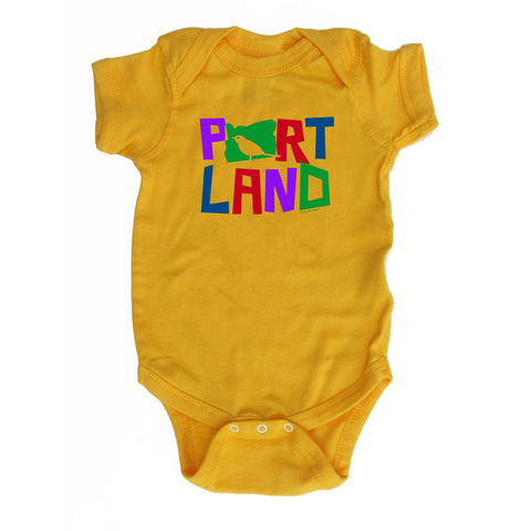 Portland Colorful Bird | Infant Bodysuit