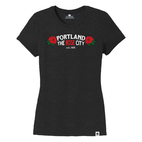 Portland Rose City | Women's Crewneck T-Shirt