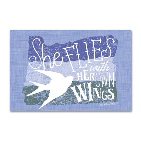 She Flies with her Own Wings | Refrigerator Magnet