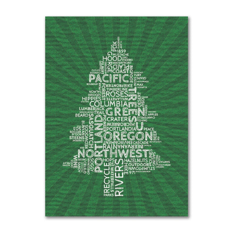 Oregon Word Tree | Refrigerator Magnet