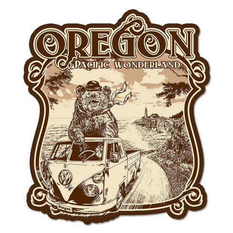 Oregon Wonder Van Bear | Sticker