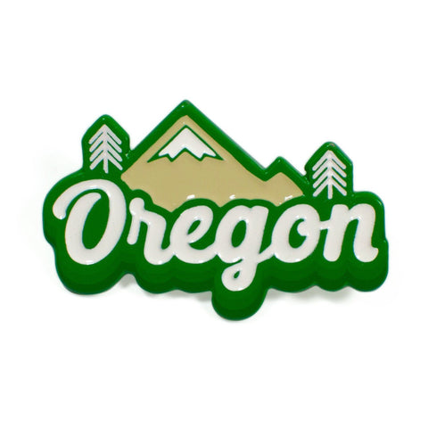Oregon Cascades Retro | Enamel Lapel Pin
