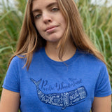 Oregon Coast Whale | Women's Crewneck T-Shirt
