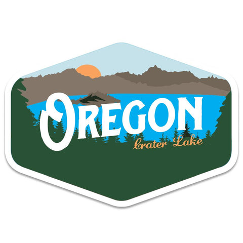 Oregon Crater Lake Vintage | Sticker