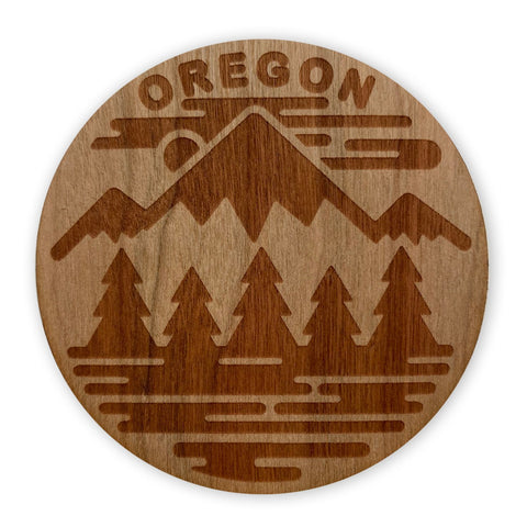 Oregon Fifty Ranges | Wooden Sticker