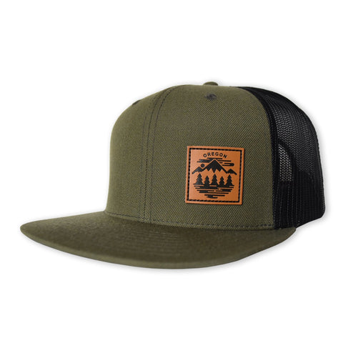Oregon Fifty Ranges | Flat Billed Trucker Hat