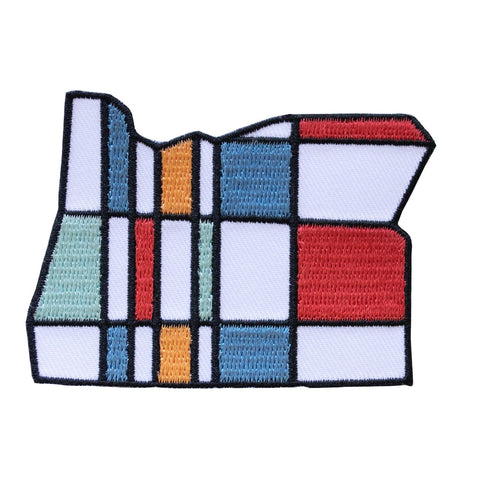 Oregon Mondrian | Embroidered Patch